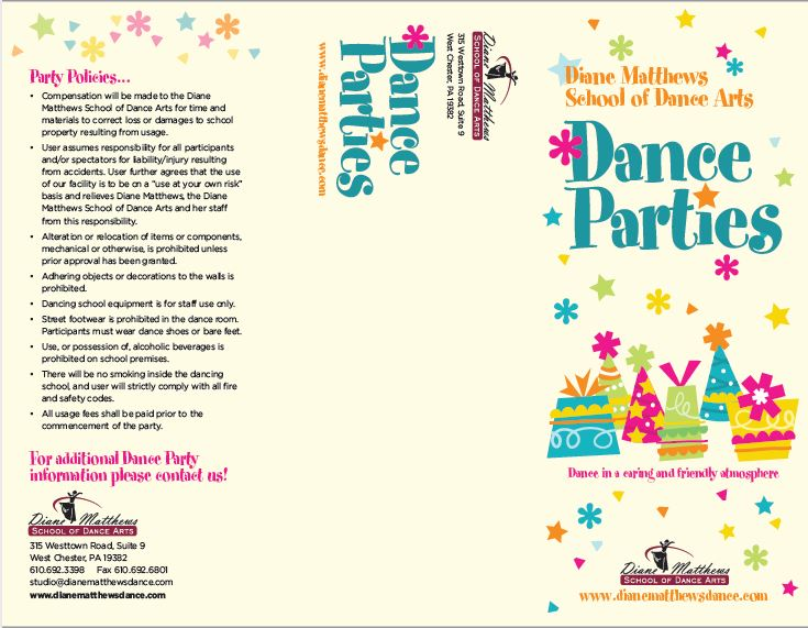Dance Party brochure- outside